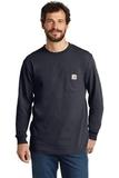 Carhartt Workwear Pocket Long Sleeve T-Shirt Navy Thumbnail