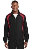 Colorblock Raglan Jacket Black with True Red Thumbnail