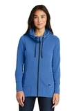 Women's New Era TriBlend Fleece FullZip Hoodie Royal Heather Thumbnail
