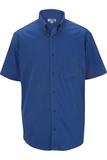Men's Cotton Rich Short Sleeve Twill Shirt Royal Thumbnail