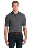 Spotshield 5.6-ounce Jersey Knit Polo Shirt Charcoal Grey Thumbnail