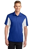 Side Blocked Performance Micropique Polo Shirt True Royal with White Thumbnail