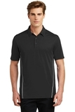 Sport-Tek Contrast PosiCharge Tough Polo Black with Heather Grey Thumbnail