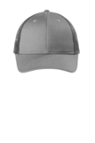 Low-Profile Snapback Trucker Cap Heather Grey with Grey Steel Thumbnail