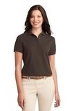 Women's Silk Touch Polo Shirt Coffee Bean Thumbnail