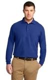 Silk Touch Long Sleeve Polo Shirt Royal Thumbnail