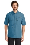 Eddie Bauer Short Sleeve Performance Fishing Shirt Gulf Teal Thumbnail