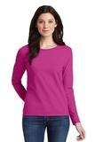 Women's Heavy Cotton 100 Cotton Long Sleeve TShirt Heliconia Thumbnail