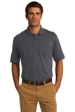 Jersey Knit Pocket Polo 5.5-ounce Charcoal Thumbnail