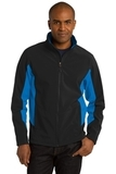 Corevalue Colorblock Soft Shell Jacket Black with Imperial Blue Thumbnail