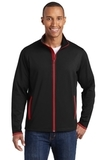 Sport-Wick Stretch Contrast Full-Zip Jacket Black with True Red Thumbnail
