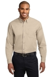 Tall Long Sleeve Easy Care Shirt Stone Thumbnail