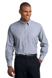 Tall Crosshatch Easy Care Shirt Navy Frost Thumbnail