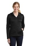 Women's Nike Golf Therma-FIT Full-Zip Fleece Hoodie Black Thumbnail