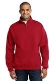 1/4-zip Cadet Collar Sweatshirt True Red Thumbnail