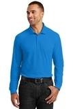 Long Sleeve Core Classic Pique Polo Coastal Blue Thumbnail