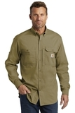 Carhartt Force Ridgefield Solid Long Sleeve Shirt Dark Khaki Thumbnail