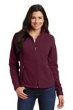 Women's Value Fleece Jacket Maroon Thumbnail