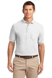 Silk Touch Polo Shirt With Pocket White Thumbnail