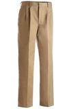 Men's Pleated Front Poly / Cotton Blended Chino Pant Tan Thumbnail