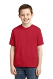 Youth 50/50 Cotton / Poly T-shirt True Red Thumbnail