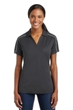 Women's Micropique Sport-wick Piped Polo Iron Grey with White Thumbnail