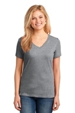 Women's 5.4-oz 100 Cotton V-neck T-shirt Athletic Heather Thumbnail