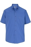 Men's Easy Care Poplin Shirt SS French Blue Thumbnail