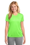 Women's Essential Performance Tee Neon Green Thumbnail