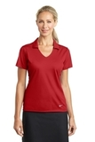 Women's Nike Golf Dri-FIT Vertical Mesh Polo University Red Thumbnail