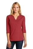 Women's OGIO Fuse Henley Signal Red Thumbnail