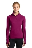 Women's Stretch 1/2-zip Pullover Pink Rush Thumbnail