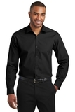 Slim Fit Carefree Poplin Shirt Deep Black Thumbnail