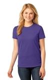 Women's 5.4-oz 100 Cotton T-shirt Purple Thumbnail