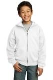 Youth Full-zip Hooded Sweatshirt White Thumbnail