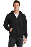 7.8-oz Full-zip Hooded Sweatshirt Jet Black Thumbnail