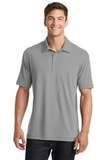 Cotton Touch Performance Polo Frost Grey Thumbnail