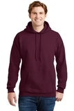Ultimate Cotton Pullover Hooded Sweatshirt Maroon Thumbnail