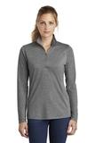 Women's Tri-Blend Wicking 1/4-Zip Pullover Dark Grey Heather Thumbnail