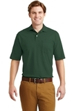 Spotshield Jersey Knit Polo With Pocket Forest Green Thumbnail