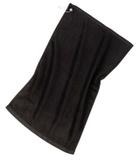 Grommeted Golf Towel Black Thumbnail
