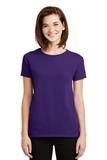 Women's Ultra Cotton 100 Cotton T-shirt Purple Thumbnail
