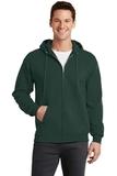 7.8-oz Full-zip Hooded Sweatshirt Dark Green Thumbnail