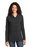 Women's French Terry Pullover Hooded Sweatshirt Heather Dark Grey Thumbnail