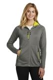 Women's Eddie Bauer Sport Hooded Full-Zip Fleece Jacket Metal Grey with Grey Steel and Citron Thumbnail