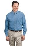 Long Sleeve Denim Shirt Faded Denim Thumbnail