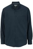 Men's Easy Care Poplin Shirt LS Navy Thumbnail