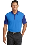 Nike Golf Dri-FIT Colorblock Icon Modern Fit Polo Light Photo Blue with Deep Royal Thumbnail