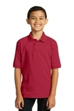 Port Company Youth 5.5-ounce Jersey Knit Polo Red Thumbnail