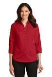 Women's 3/4Sleeve SuperPro Twill Shirt Rich Red Thumbnail